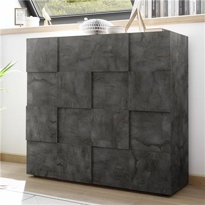 Argentier design anthracite DOMINOS 5