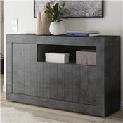 Buffet 140 cm moderne gris anthracite MABEL