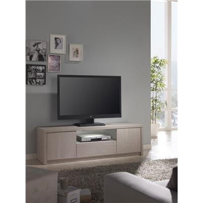 Meuble TV couleur pin contemporain MAUDE