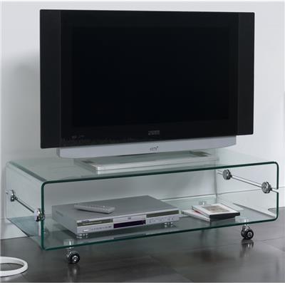 Meuble TV en verre transparent design CANDY