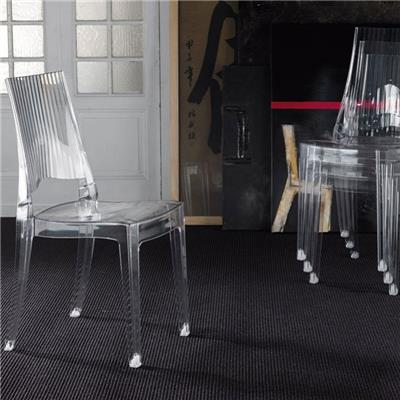 Chaise transparente design empilable PAVEL (lot de 4)