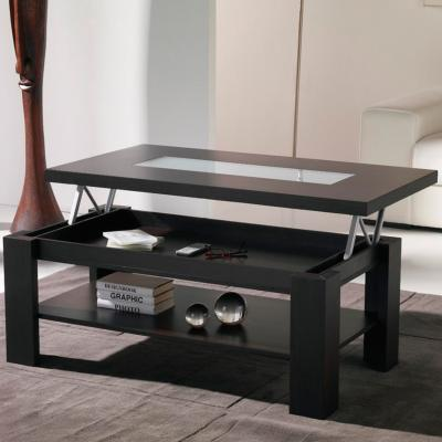 Table basse relevable wengé contemporaine WINONA