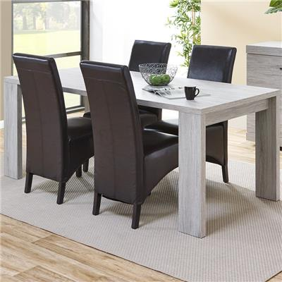 Table contemporaine couleur chêne gris LADY