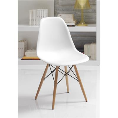 Chaise blanche scandinave INARI, lot de 4