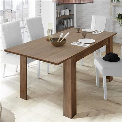 Table 180 avec rallonge contemporaine couleur noyer MABEL 4