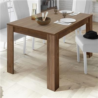 Table 180 contemporaine couleur noyer MABEL 4