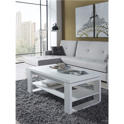 Table basse relevable blanc contemporaine JEREMIA