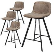 Chaises de bar marron NEVIS 2, lot de 4