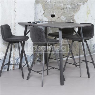 Chaises de bar noires NEVIS, lot de 4