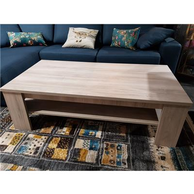 Table basse contemporaine couleur chêne gris SOPHIE