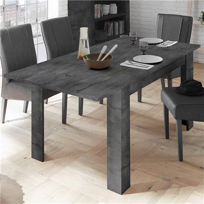 Table 140 cm avec rallonge anthracite design DOMINOS 5