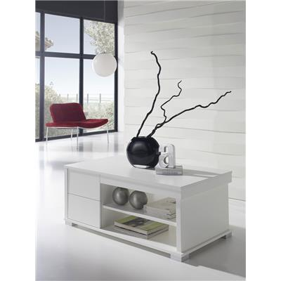 Table basse relevable blanc contemporaine FLORIANE